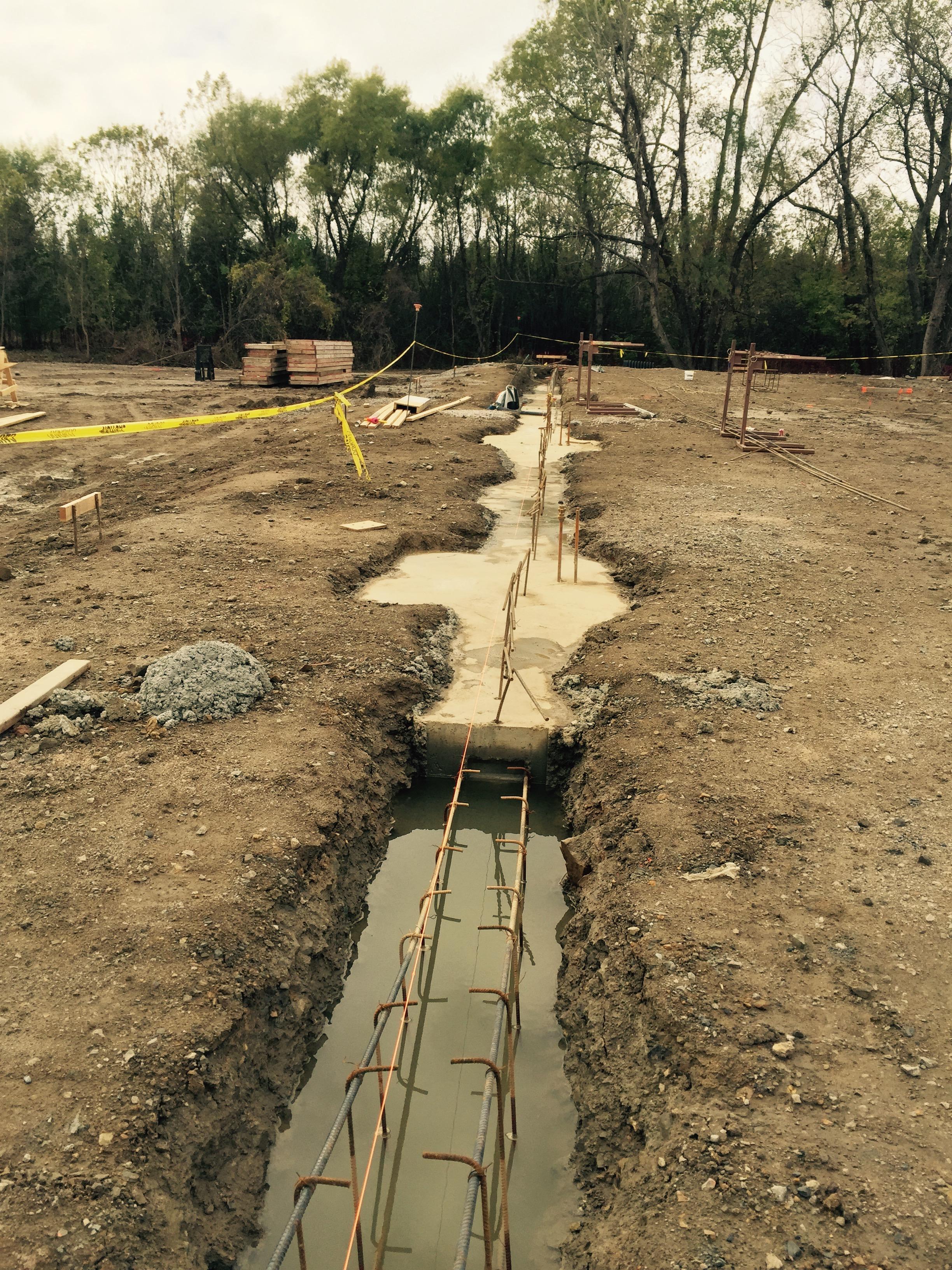 Hardesty construction updates tulsa ballet for Best temperature to pour concrete